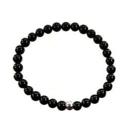 Toermalijn (zwart) armband 17 cm | 6 mm kralen