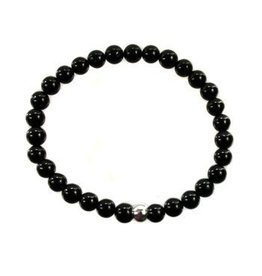 Toermalijn (zwart) armband 16 cm | 6 mm kralen
