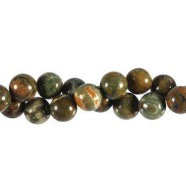 Rhyoliet kralen rond 12 mm (streng van 40 cm)