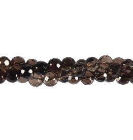 Rookkwarts kralen rond facet 8 mm (streng van 40 cm)