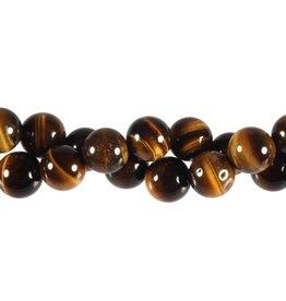 Tijgeroog kralen rond 10 mm (streng van 40 cm)