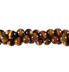 Tijgeroog kralen rond 8 mm (streng van 40 cm)