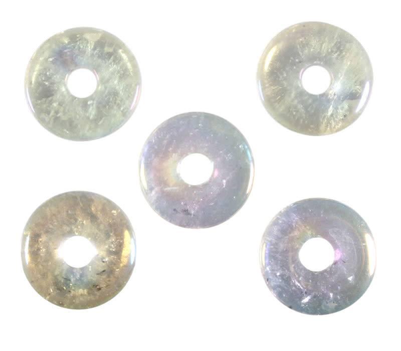 Angel aura kwarts hanger donut 3 cm