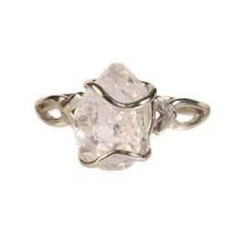 Zilveren ring Herkimer diamant maat 19