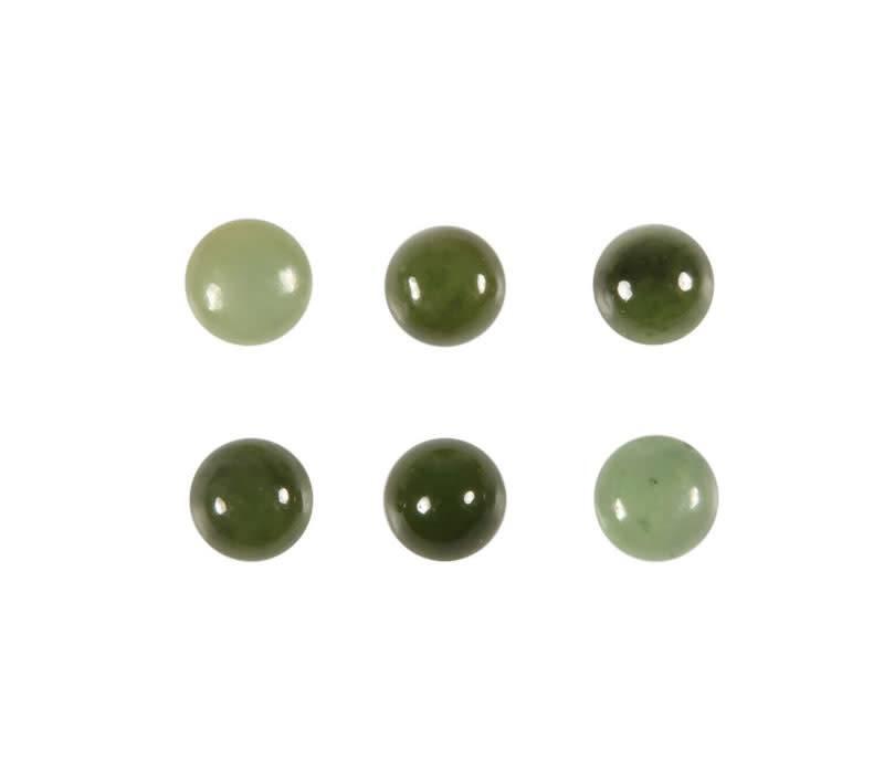 Jade cabochon rond 6 mm