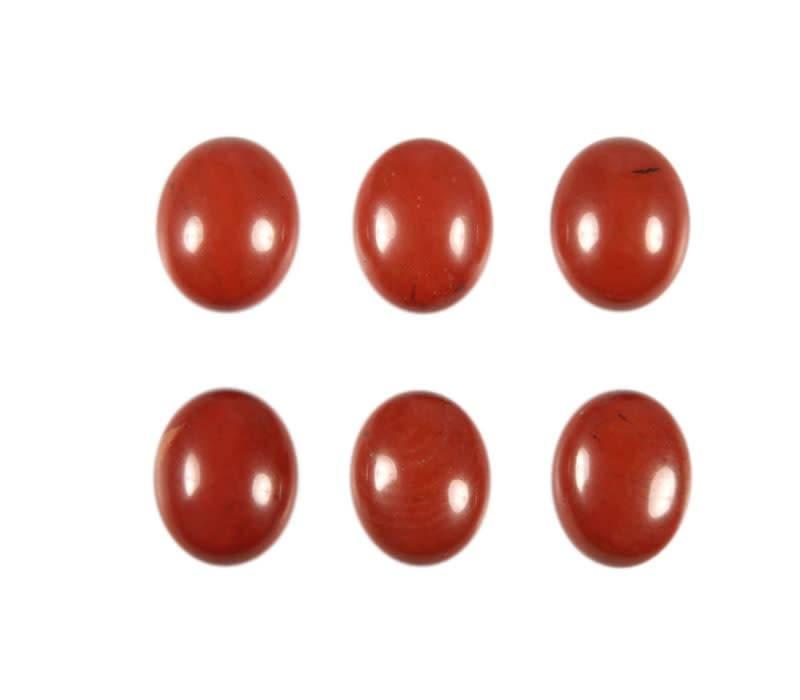 Jaspis (rood) cabochon ovaal 10 x 8 mm