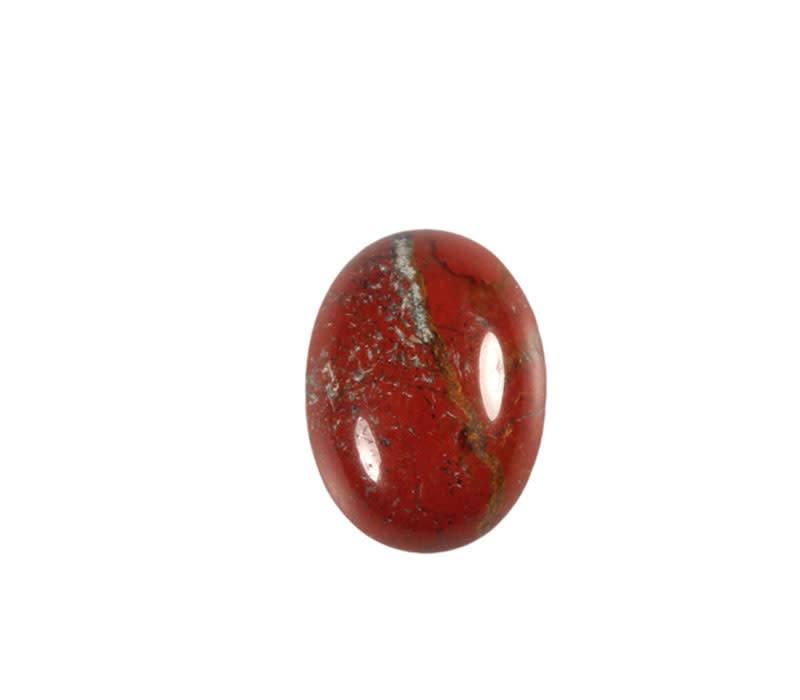 Jaspis (rood) cabochon ovaal 16 x 12 mm