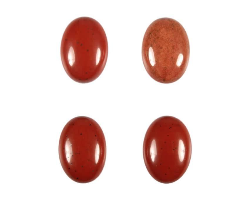 Jaspis (rood) cabochon ovaal 18 x 13 mm