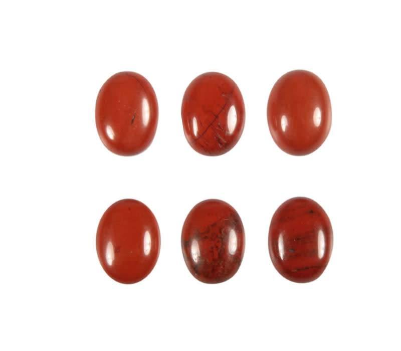 Jaspis (rood) cabochon ovaal 8 x 6 mm