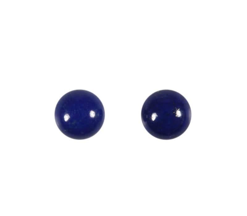 Lapis lazuli cabochon A-kwaliteit rond 8 mm