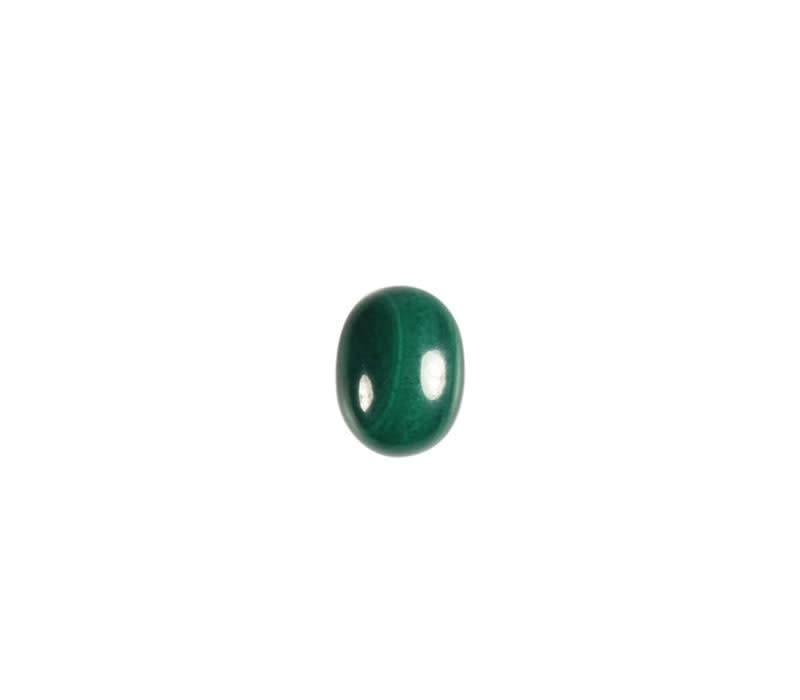 Malachiet cabochon ovaal 8 x 6 mm