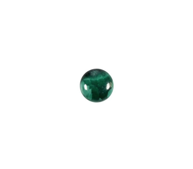 Malachiet cabochon rond 6 mm