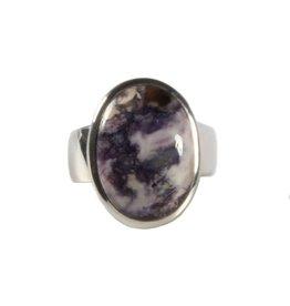 Zilveren ring tiffany stone maat 17 3/4 | ovaal 1,8 x 1,4 cm