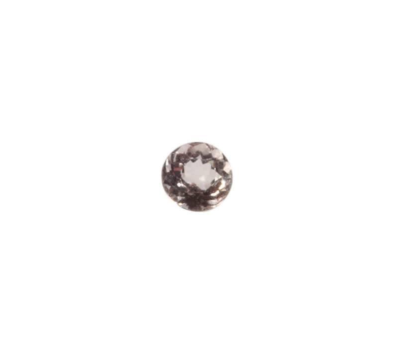 Gefacetteerde morganiet rond 4 mm