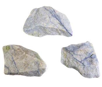 Kwarts (blauw) ruw 25 - 50 gram