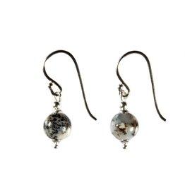 Zilveren oorbellen merliniet rond 8 mm