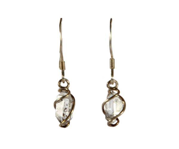 Zilveren oorbellen Herkimer diamant