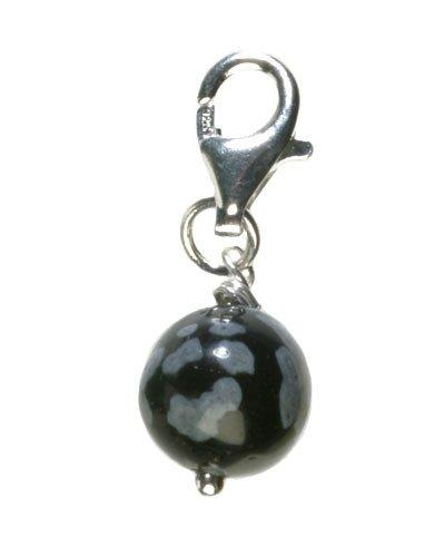 Sneeuwvlok obsidiaan sieraden