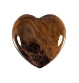 Versteend hout edelsteen hart 3 cm
