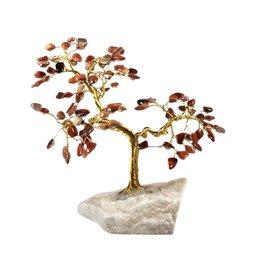 Versteend hout edelsteen boompje