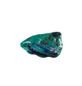 Turkoois met azuriet steen getrommeld 2 - 5 gram