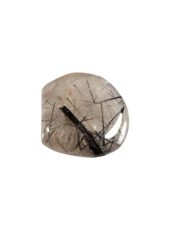 Toermalijnkwarts steen getrommeld 2 - 5 gram