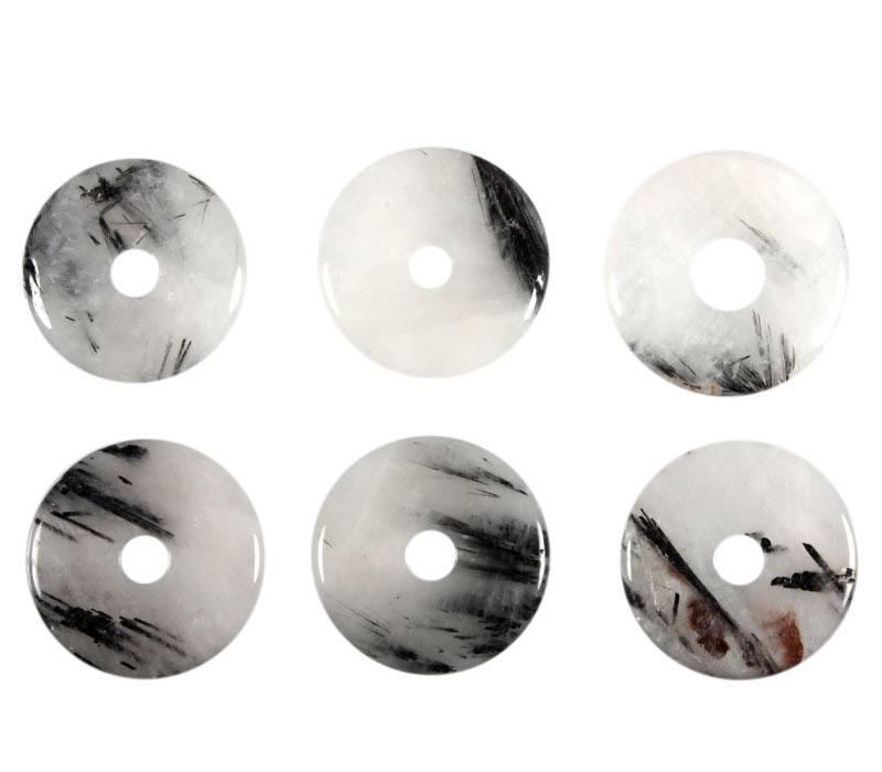 Toermalijnkwarts hanger donut 3,4 - 4 cm