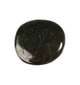 Toermalijn (zwart) steen plat gepolijst