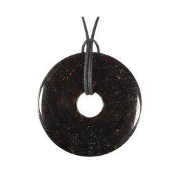Toermalijn (bruin) of draviet hanger donut 4 cm