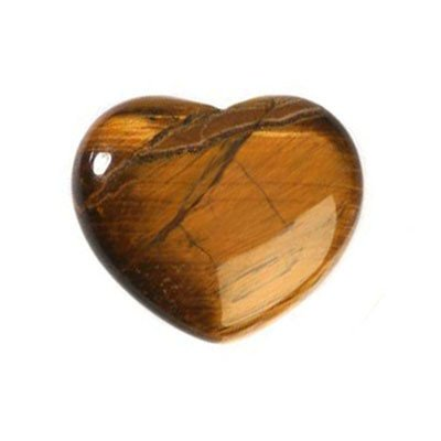Tijgeroog edelsteen hart 4 cm