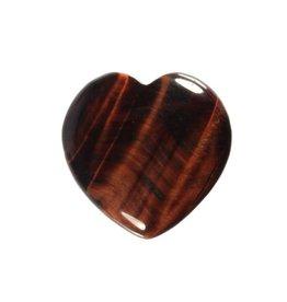 Tijgeroog (rood) edelsteen hart 3 cm