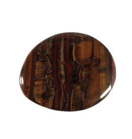 Tijgerijzer steen plat gepolijst