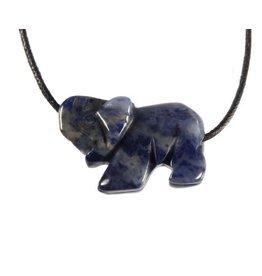Sodaliet hanger olifant doorboord