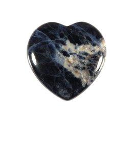Sodaliet edelsteen hart 3 cm