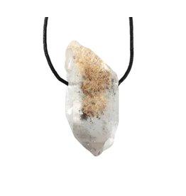 Sjamaankwarts hanger kristal doorboord
