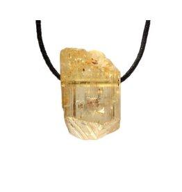 Scapoliet (geel) hanger kristal doorboord