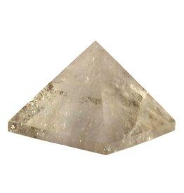 Rookkwarts (licht) edelsteen piramide 7 x 7 x 5 cm / 301 gram