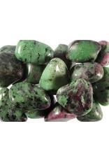 Robijn in zoisiet steen getrommeld 15 - 20 gram