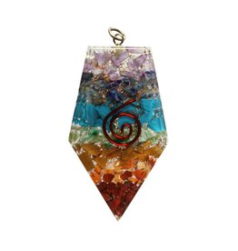 Orgone hanger vijfhoekig chakra