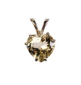 Zilveren hanger labradoriet (goud) hartje 10 mm