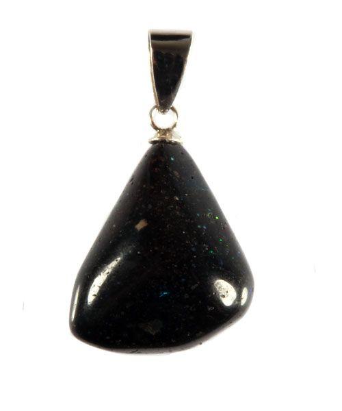 Zwarte opaal hanger