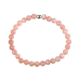 Opaal (Andes) roze armband 18 cm | 6 mm kralen