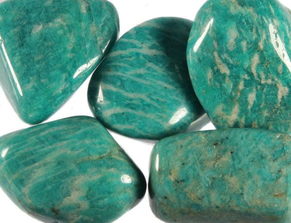 Amazoniet steen getrommeld 20 - 30 gram