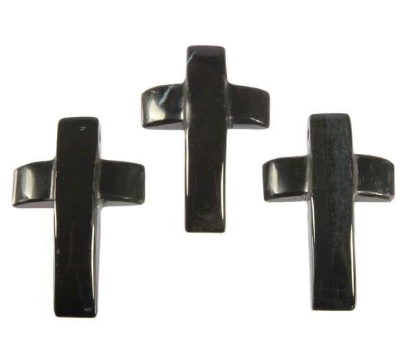 Onyx hanger kruis doorboord