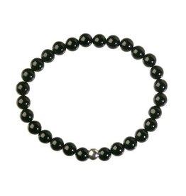 Obsidiaan (zwart) armband 18 cm | 6 mm kralen