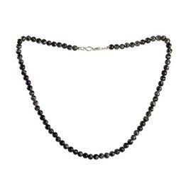 Obsidiaan (sneeuwvlok) ketting 6 mm kralen