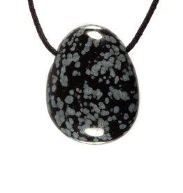 Obsidiaan (sneeuwvlok) hanger doorboord