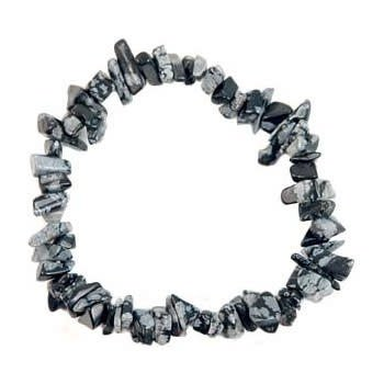 Obsidiaan (sneeuwvlok) armband split