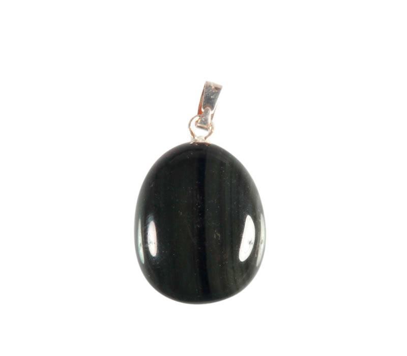 Regenboog obsidiaan hanger