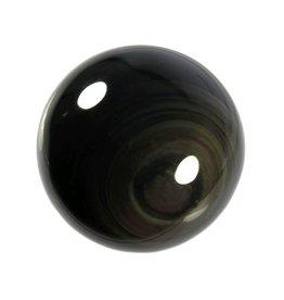 Obsidiaan (regenboog) edelsteen bol 70 mm